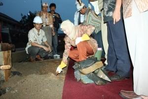 Peletakan Batu Pertama Gedung PT. BPD Jateng Capem Kajen oleh Bupati Pekalongan
