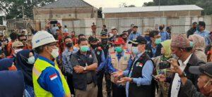 Kunjungan Bupati Majalengka di Proyek Pembangunan Rumah Sakit Umum Daerah Talaga Gedung A