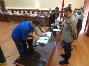 Penandatanganan Kontrak Proyek RS Bhayangkara Akpol